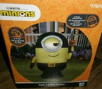 DESPICABLE ME MINIONS EYE MATIE PIRATE HALLOWEEN INFLATABLE 6FT! NEW! LED