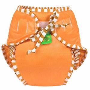 Kushies Baby Unisex Swim Diaper, Small, Orange Solid