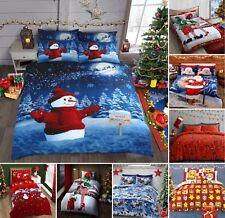 Christmas Bedding Festive Duvet Cover Polycotton Bedding Sets Santa Snowman
