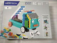 KidsTech 4 in 1 DIY RC Kit Ladder Truck Train Engine Duck Skier 180 Pieces
