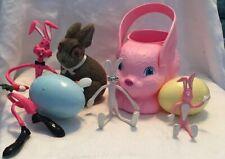 Vintage Empire Blowmold Bunny Basket Plus Easter Collectible Decor L'Eggs