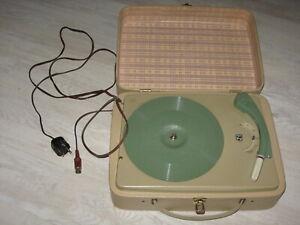 alter Kofferplattenspieler Philips, 60er Jahre?, funtioniert sehr gut - selten!