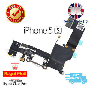 New White Replacement Charging Dock Port Connector, Flex Cable For iPhone 5S