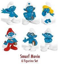 Smurfs 2011 Movie 6-figure Set Schleich smurf NEW Papa Grouchy Brainy Clumsy+++
