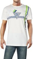 Puma Men's T-Shirt White Multi Size Medium M Crewneck Graphic Print Tee $30- 211