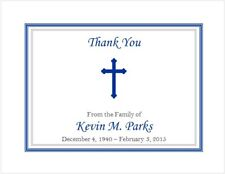 12 Sympathy Personalized Thank You Cards ~ Cross #2