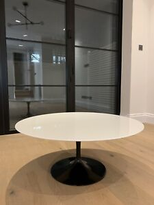 Knoll Studio Eero Saarinen Coffee Table 91 Piano/lacquer white top rrp £1750