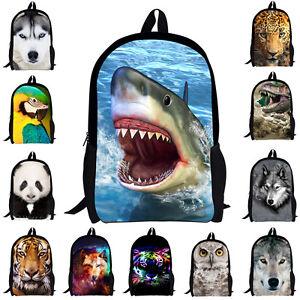 Cool Animal Backpack School Bag Shoulder Laptop Travel Boys Women Rucksack Gift