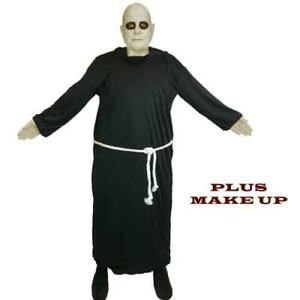 Old Gothic Creepy Uncle Family Fancy Dress Fester Halloween Costume & Make Up