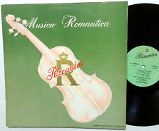 GIUSSEPE Del VENTO Autographed Musica Romantica ITALIAN LP