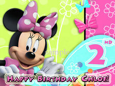 Minnie MOUSE Edible Photo CAKE Topper ICING Image Decoration FREE SHIPPING