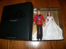 BARBIE PRINCE WILLIAM AND CATHERINE KATE ROYAL WEDDING GIFTSET & Royal WEDD CD