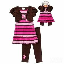 Heart Dress Set Girls  SZ 2T + Matching 18 in Doll Clothes Fits American Girl