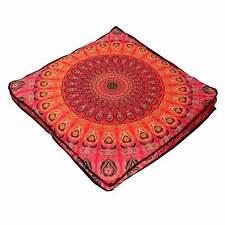 "Cushion Floor Square 35"" Mandala Indian Pillow Case Ottoman Elephant Cover Pouf"