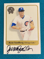 2001 Fleer Greats of the Game AUTOGRAPHED Ryne Sandberg Chicago Cubs Card