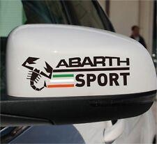 2x Abarth Sport Aufkleber Sticker Der Rückspie Logo Fiat 500 500 S Punto SS Evo