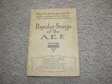 1918 Popular Songs of the A.E.F. WWI, YMCA