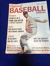 1963 OFFICIAL BASEBALL ANNUAL DON DRYSDALE  LOS ANGELES DODGERS COVER