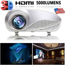 5000Lumens LED HD 1080p Projector Home Multimedia Cinema AV TV VGA USB HDMI SD