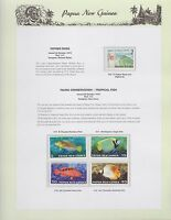 1976 PNG PAPUA NEW GUINEA Father Ross Fauna Tropical Fish STAMP SET K-441