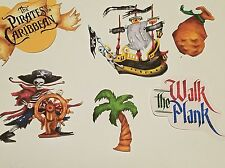 Disney's pirates of the Caribbean   printed scrapbook page die cut  set #2