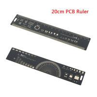 1Pc 20cm multifunctional PCB ruler measuring tool resistor capacitor chWR