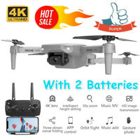 Drone MINI WIFI FPV HD 4K Camera 2 Batteries Foldable Selfie RC Quadcopter E88