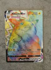 Carte Pokemon Pikachu Vmax Secret Rainbow / 188/185 /Épée et Bouclier EB04 proxy