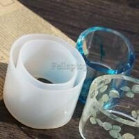 Clear Silicone Round Bracelet For Resin Real Flower DIY Bangle Mould 52mm