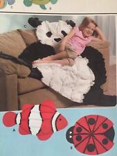 Simplicity Sewing Pattern 3955 Fish Panda Ladybug Rug Uncut Craft New Quilt