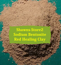 Bentonite Red Healing Clay Sodium 4 lb w/FREE Utensil