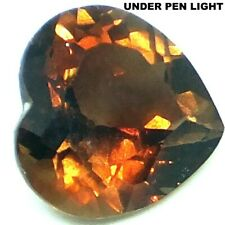 NATURAL HEART-CUT IMPERIAL TOPAZ FLAWLESS LOOSE GEMSTONE 12 x 12 mm