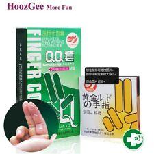 Lots 20Pcs Men Latex Condoms Sexual Finger Sleeve Condoms Stimulate Orgasm Cool