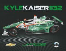 2019 Kyle Kaiser Juncos Racing 250ok Chevy Dallara Indy 500 Indy Car postcard