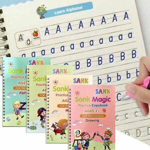 4 Bücher Buntes magisches Kalligraphie Übungsheft Kinder Handschrift Copybook