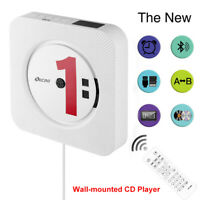 CD-Player Wandmontage Bluetooth USB Audio LED FM Fernbedienung Hifi Lautsprecher