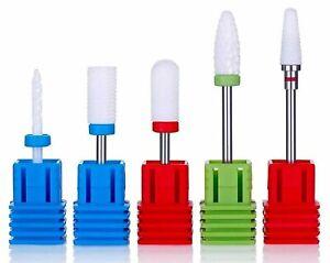 Ceramic UV Gel Nail Drill Bit 5 pcs set --Shank Size:3/32'' Jargod