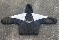 Vintage 90s Adidas Black Puffer Jacket Size Large