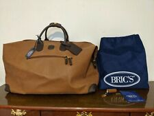 "Bric's 22"" Life Special Holdall Micro-Suede/Leather Crossbody Duffel Bag New!"