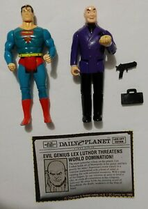 Dc Superheroes Superman and Lex Luthor 1989 Action Figure Lot Of 2