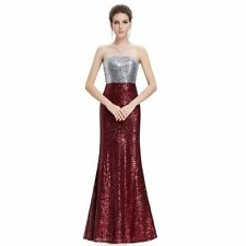 Sequin Ball Gown Formal Solid Dresses for Women