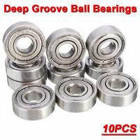 10PCS 8x22x7mm Roulements à Billes Palier Bearing Gamme roulette ABEC-7 608-ZZ