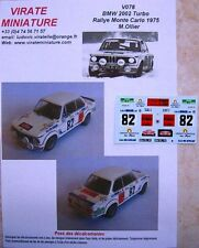 V078 BMW 2002 TURBO RALLYE MONTE CARLO 1975 MICHEL OLLIER DECALS VIRATE