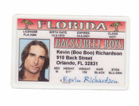 kevin richardson of the Backstreet Boys ... plastic ID card Drivers License -