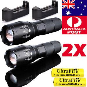 550000LM Tactical Zoom XML T6 LED Zoom LED Flashlights Torch Light Headlamp Camp