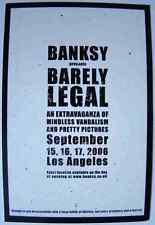 Banksy Sign Barely Legal A4 Sign Aluminium Metal