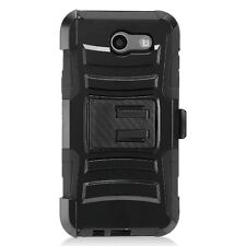 For Samsung Galaxy J3(2017) J327 Case Cover with Kickstand+Belt Clip Holster