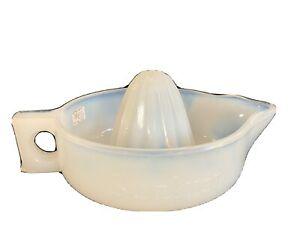 Vintage Fry Glass Sunkist Clambroth Opalescent Juicer Reamer