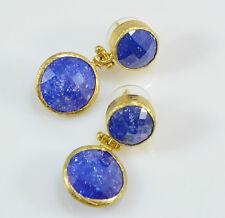 OttomanGems semi precious gemstone earrings gold ethnic crackle quartz handmade