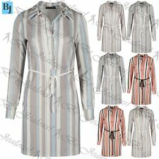 Polyester Long Sleeve Plus Size Shirt Dresses for Women